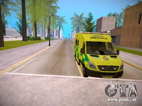 Mercedes-Benz Sprinter London Ambulance pour GTA San Andreas vue de dessus