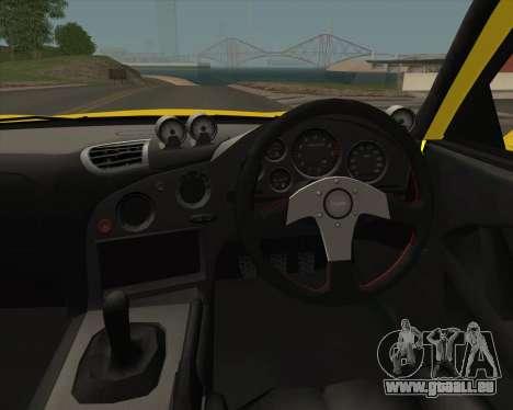 Mazda RX-7 FD3S A-Spec pour GTA San Andreas vue intérieure