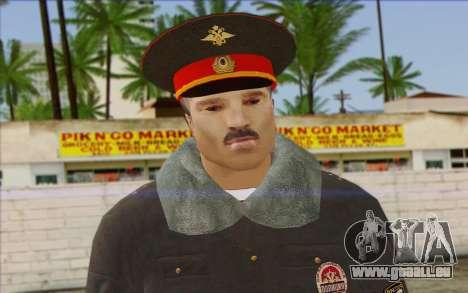 La Police De La Russie De La Peau 1 pour GTA San Andreas troisième écran