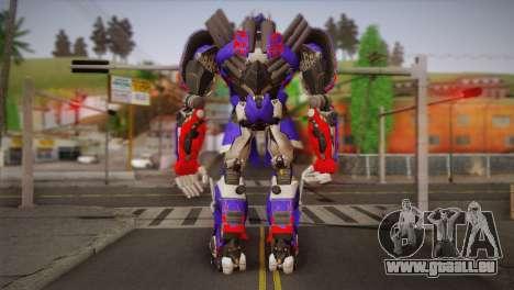 Optimus Prime pour GTA San Andreas deuxième écran