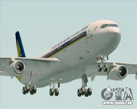 Airbus A340-313 Singapore Airlines für GTA San Andreas Innenansicht