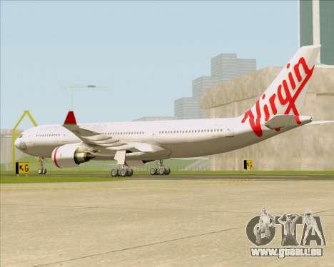 Airbus A330-200 Virgin Australia für GTA San Andreas zurück linke Ansicht