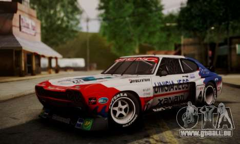 Ford Capri RS Cosworth 1974 Skinpack 4 für GTA San Andreas linke Ansicht