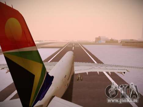 Airbus A340-300 South African Airways pour GTA San Andreas roue