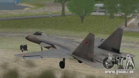 Sukhoi SU-47 Berkut from H.A.W.X. 2 Stealth Skin für GTA San Andreas linke Ansicht