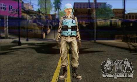 Un gardien de la paix de l'ONU (Poste 3) pour GTA San Andreas