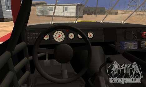 Buick Regal 1983 pour GTA San Andreas vue intérieure