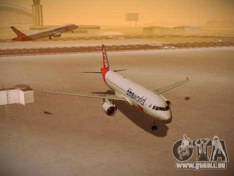 Airbus A320-214 TAM Oneworld für GTA San Andreas Rückansicht