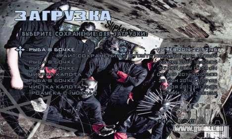 Metal Menu - Slipknot pour GTA San Andreas troisième écran