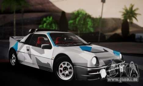 Ford RS200 Evolution 1985 pour GTA San Andreas moteur