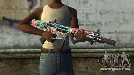 Graffiti Assault rifle v2 pour GTA San Andreas troisième écran