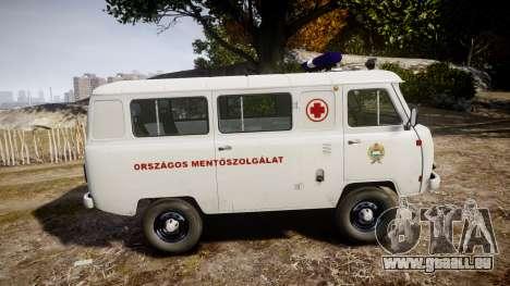 UAZ-39629 ambulance Hongrie pour GTA 4 est une gauche