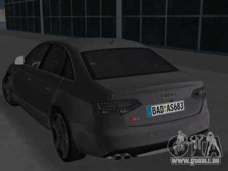 Audi S4 (B8) 2010 - Metallischen pour une vue GTA Vice City de la droite