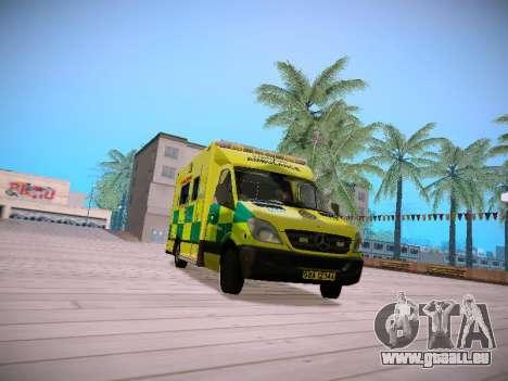 Mercedes-Benz Sprinter London Ambulance pour GTA San Andreas laissé vue