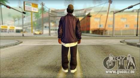 Eazy-E Blue Skin v1 für GTA San Andreas zweiten Screenshot