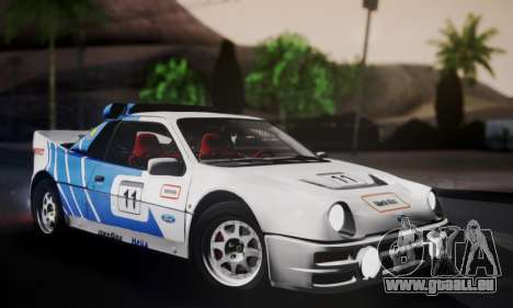 Ford RS200 Evolution 1985 für GTA San Andreas Innen