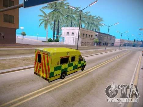 Mercedes-Benz Sprinter London Ambulance für GTA San Andreas Innenansicht