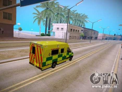 Mercedes-Benz Sprinter London Ambulance pour GTA San Andreas vue intérieure