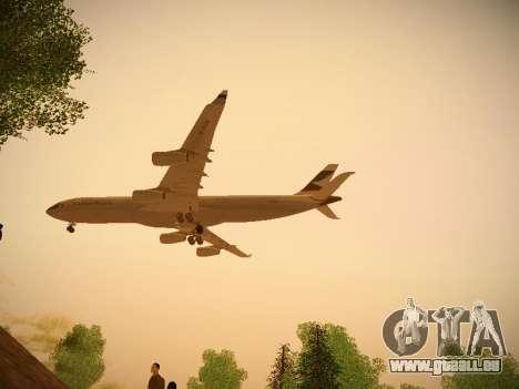 Airbus A340-300 Cathay Pacific für GTA San Andreas Rückansicht