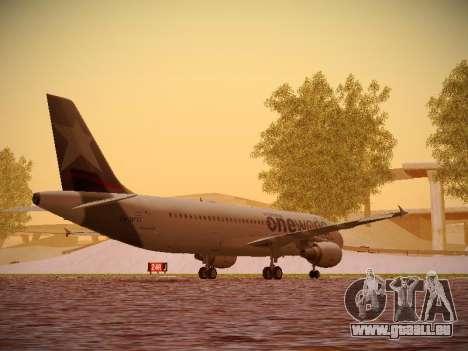 Airbus A320-214 LAN Oneworld pour GTA San Andreas vue de droite