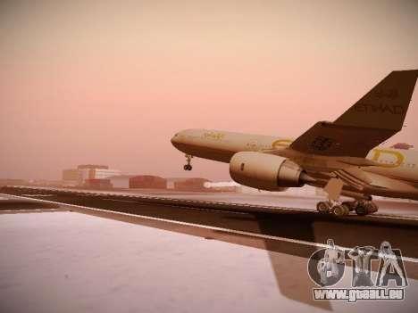 Airbus A340-600 Etihad Airways für GTA San Andreas Seitenansicht