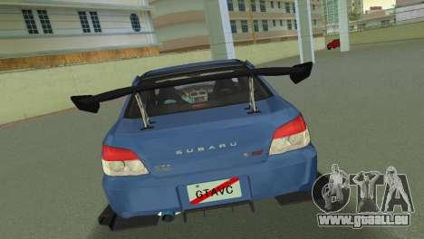 Subaru Impreza WRX STI 2006 Type 2 für GTA Vice City rechten Ansicht
