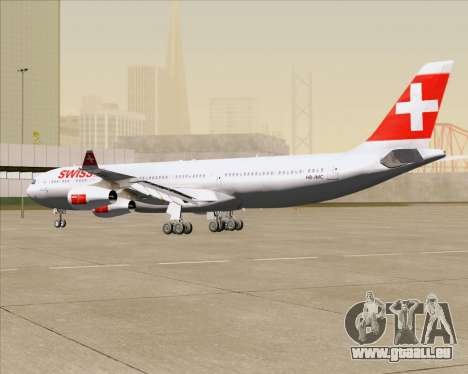 Airbus A340-313 Swiss International Airlines für GTA San Andreas Seitenansicht