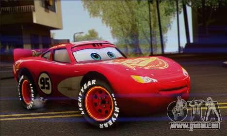 Lightning McQueen Radiator Springs pour GTA San Andreas