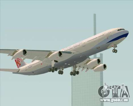 Airbus A340-313 China Airlines für GTA San Andreas obere Ansicht