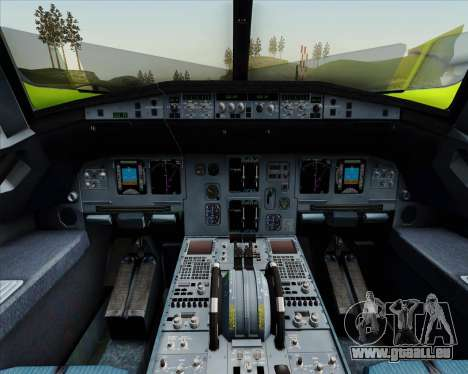 Airbus A320-214 S7-Siberia Airlines pour GTA San Andreas moteur