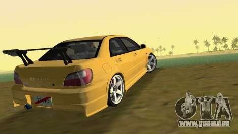 Subaru Impreza WRX 2002 Type 5 für GTA Vice City linke Ansicht