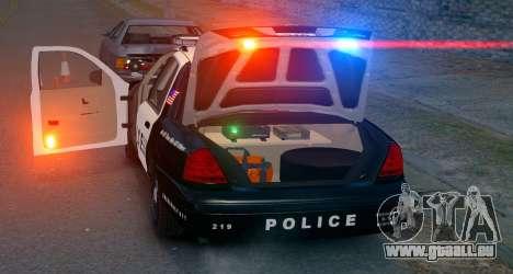 Ford Crown Victoria LCPD [ELS] Pushbar pour GTA 4 Vue arrière de la gauche