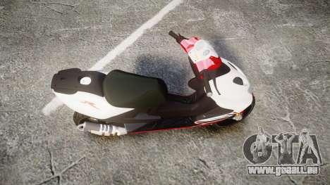 Yamaha Aerox für GTA 4 rechte Ansicht