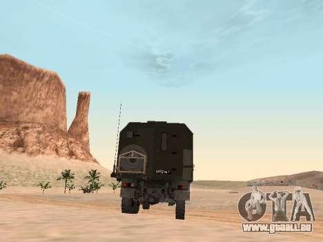 ZIL 131 Kung für GTA San Andreas rechten Ansicht