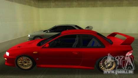 Subaru Impreza WRX STI GC8 22B pour GTA Vice City sur la vue arrière gauche