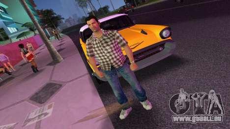 Kockas polo - barna T-Shirt für GTA Vice City