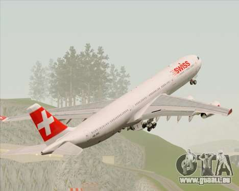 Airbus A340-313 Swiss International Airlines pour GTA San Andreas moteur