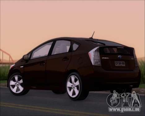Toyota Prius pour GTA San Andreas vue de droite