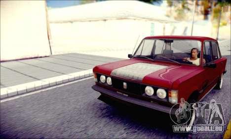 Fiat 125P Shark für GTA San Andreas zurück linke Ansicht