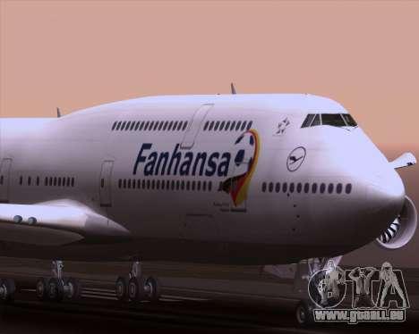 Boeing 747-830 Lufthansa - Fanhansa für GTA San Andreas obere Ansicht