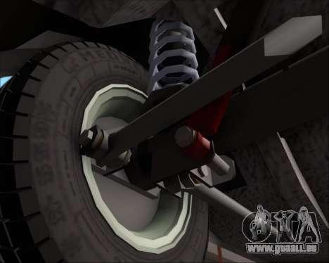 LADA 2107 pour GTA San Andreas vue de dessus