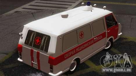 RAF 22031 Lettland - Krankenwagen für GTA San Andreas zurück linke Ansicht