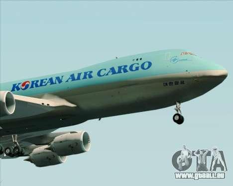 Boeing 747-8 Cargo Korean Air Cargo für GTA San Andreas Rückansicht