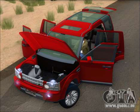 Land Rover Discovery 4 für GTA San Andreas Innenansicht
