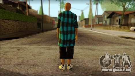Los Aztecas Gang Skin v3 für GTA San Andreas zweiten Screenshot