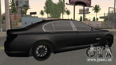 BMW 760 pour GTA San Andreas laissé vue