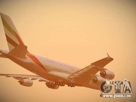 Airbus A380-800 Emirates für GTA San Andreas Motor