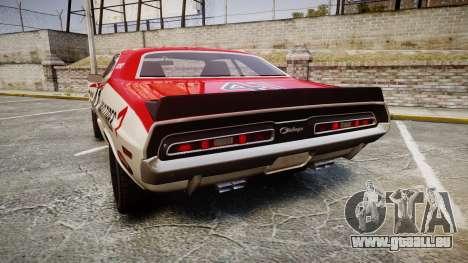 Dodge Challenger 1971 v2.2 PJ7 pour GTA 4 Vue arrière de la gauche