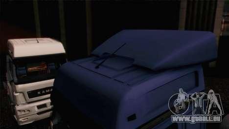 Le KamAZ-5490 pour GTA San Andreas sur la vue arrière gauche
