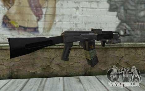 AK-101 sécurisé sur notre (Battlefield 2) pour GTA San Andreas deuxième écran